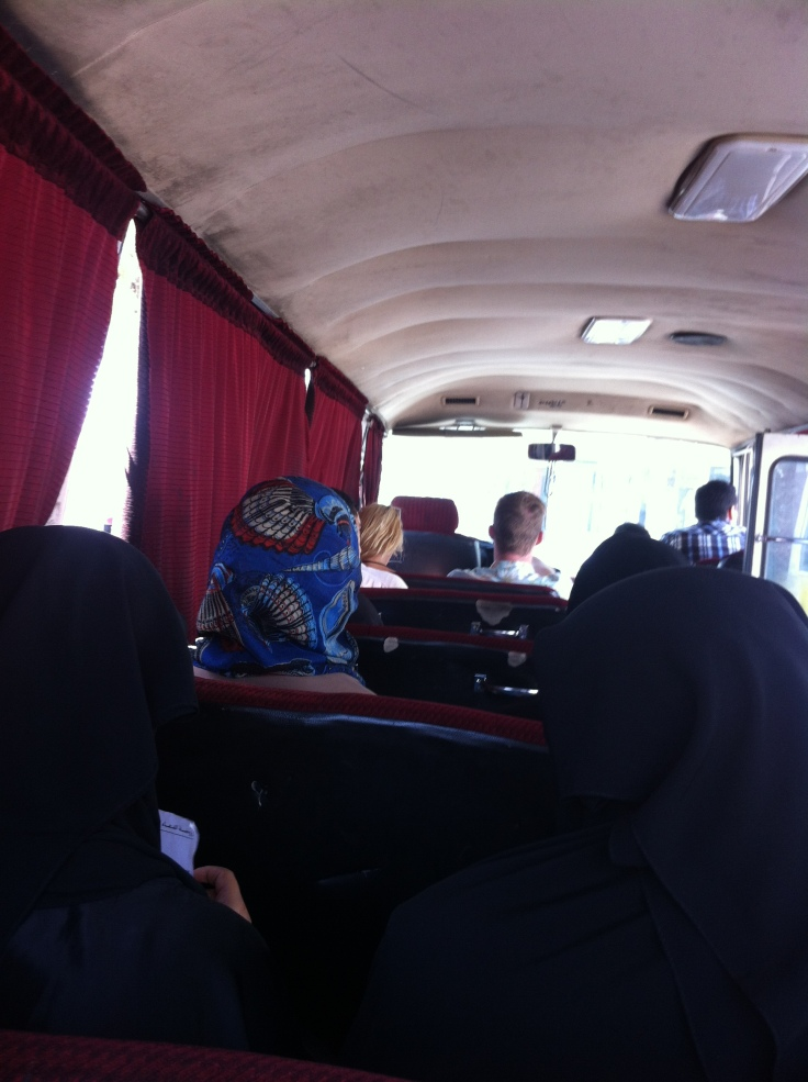 Bus to Wadi Rum